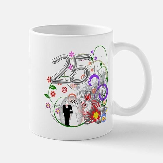 25th Silver Anniversary Mug