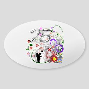 25th Silver Anniversary Sticker (Oval)