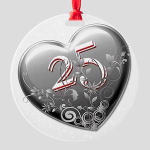 25th Anniversary Round Ornament