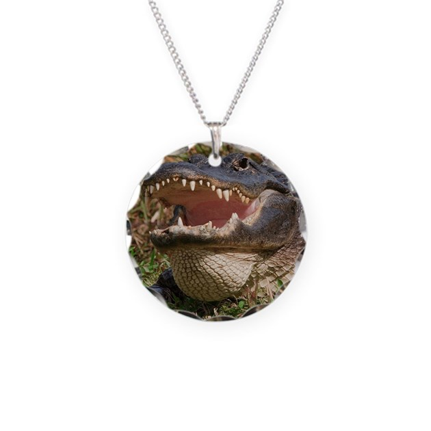Crocodile Tooth Necklace: Alligator With Teeth Showing Necklace By ADMIN_CP16564703