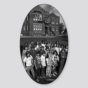 Irving School - Ottumwa, Iowa Sticker (Oval)