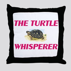 The Turtle Whisperer Throw Pillow