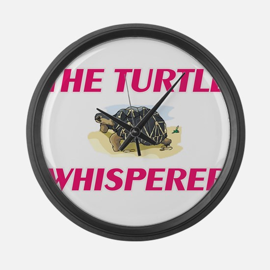 The Turtle Whisperer Large Wall Clock