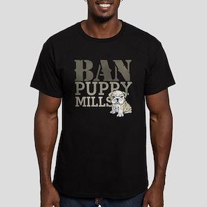 Ban Puppy Mills Men's Fitted T-Shirt (dark)