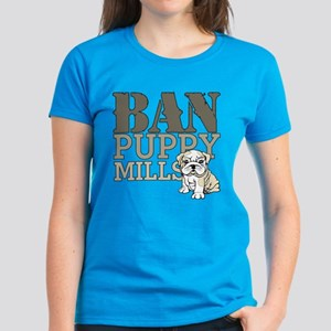 Ban Puppy Mills Women's Dark T-Shirt