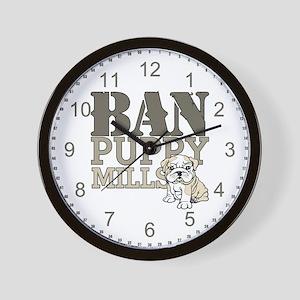 Ban Puppy Mills Wall Clock