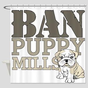 Ban Puppy Mills Shower Curtain