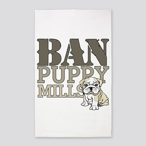 Ban Puppy Mills 3'x5' Area Rug