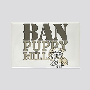 Ban Puppy Mills Rectangle Magnet