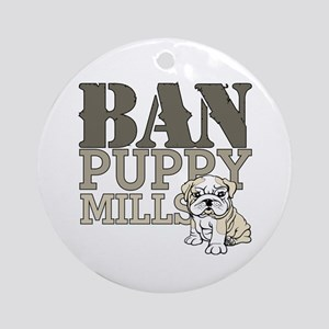 Ban Puppy Mills Ornament (Round)