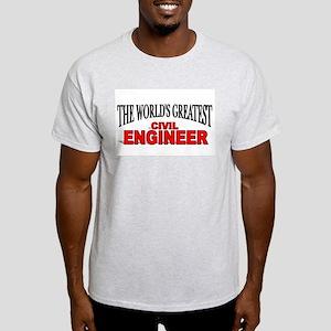 """The World's Greatest Civil Engineer"" Ash Grey T-S"