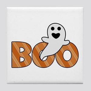 BOO Spooky Halloween Casper Tile Coaster