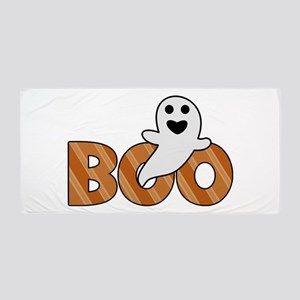 BOO Spooky Halloween Casper Beach Towel
