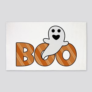 BOO Spooky Halloween Casper 3'x5' Area Rug