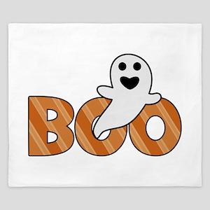 BOO Spooky Halloween Casper King Duvet