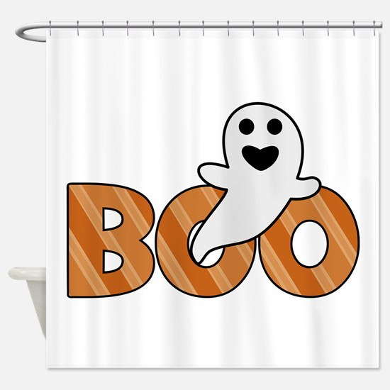 BOO Spooky Halloween Casper Shower Curtain