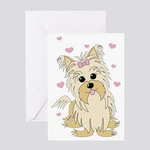 Yorkshire/Silky Terrier Greeting Card