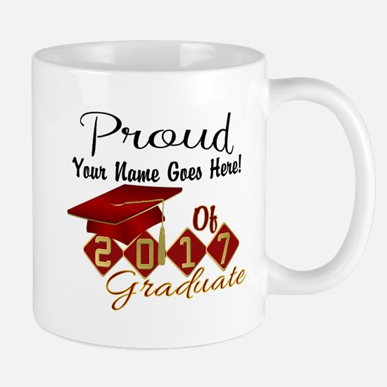 Proud 2017 Graduate Red Mugs