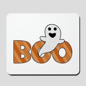 BOO Spooky Halloween Casper Mousepad