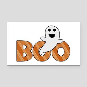 BOO Spooky Halloween Casper Rectangle Car Magnet