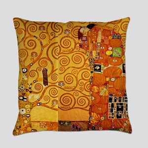 Gustav Klimt Tree of Life Art Nouv Everyday Pillow