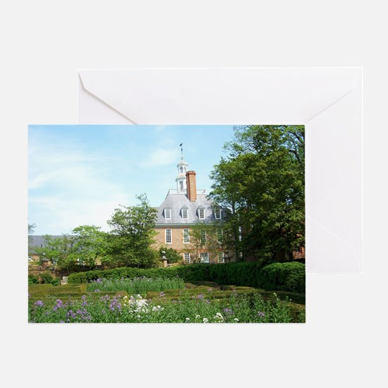 GOVERNORS PALACE FORMAL GARDENS WILL Greeting Card
