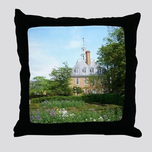 GOVERNORS PALACE FORMAL GARDENS WILLI Throw Pillow