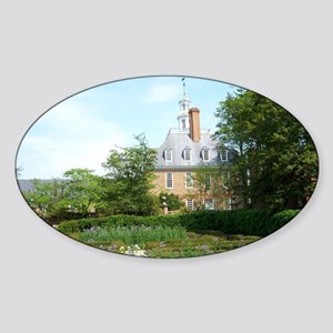 GOVERNORS PALACE FORMAL GARDENS WIL Sticker (Oval)