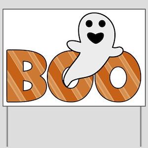 BOO Spooky Halloween Casper Yard Sign