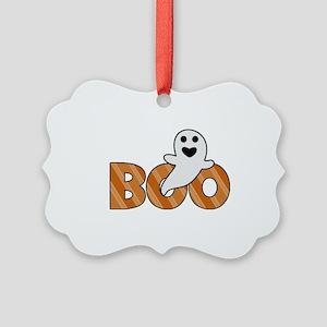 BOO Spooky Halloween Casper Picture Ornament