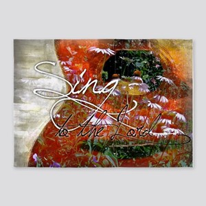 Sing to the Lord 5'x7'Area Rug