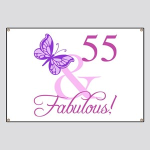 55th bday banners cafepress