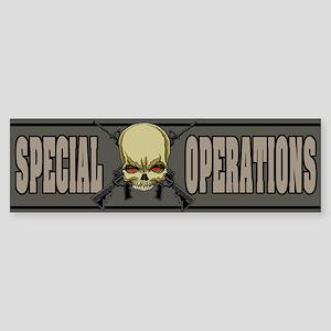 Special Ops Skull Bumper Sticker
