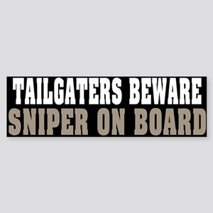 Sniper on Board Bumper Sticker