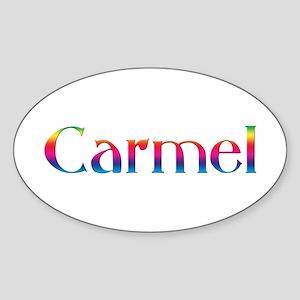 Carmel Oval Sticker