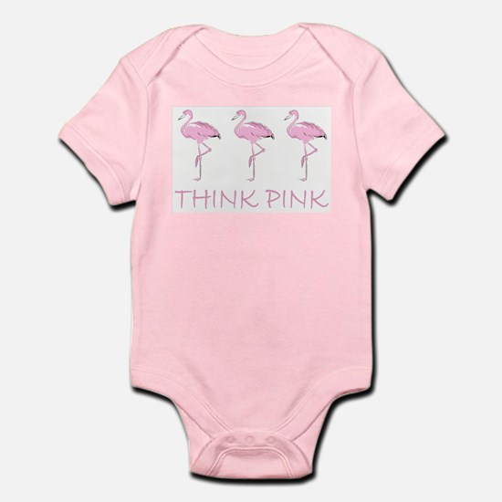 Breast cancer flamingo Body Suit