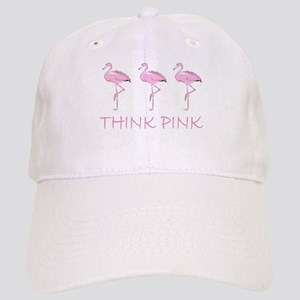 Breast cancer flamingo Baseball Cap