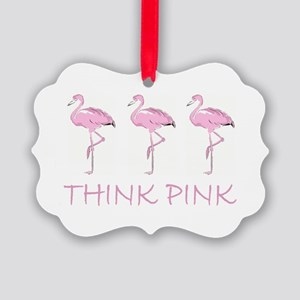 Breast cancer flamingo Ornament