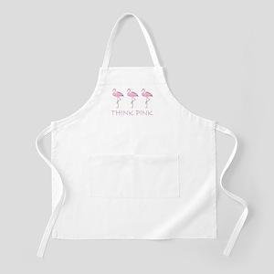 Breast cancer flamingo Apron