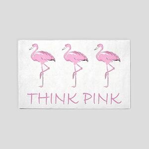Breast cancer flamingo 3'x5' Area Rug