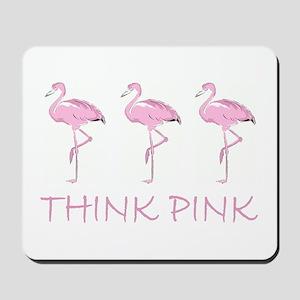 Breast cancer flamingo Mousepad
