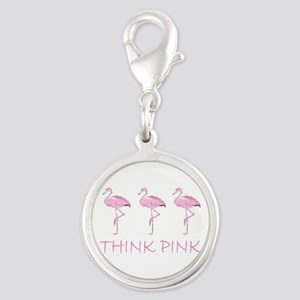 Breast cancer flamingo Charms