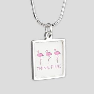 Breast cancer flamingo Necklaces
