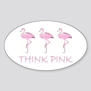 Breast cancer flamingo Sticker