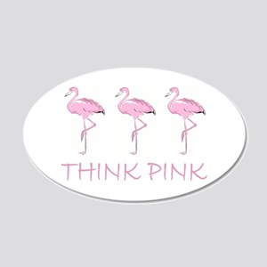 Breast cancer flamingo Wall Decal