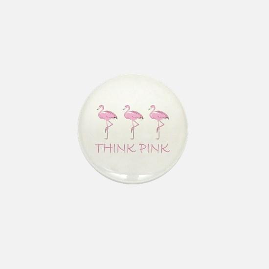 Breast cancer flamingo Mini Button