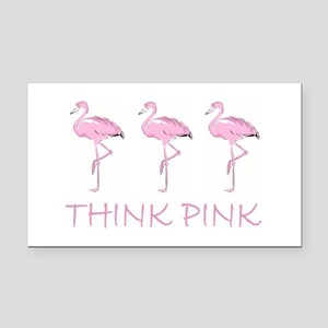 Breast cancer flamingo Rectangle Car Magnet