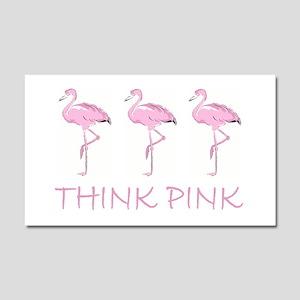 Breast cancer flamingo Car Magnet 20 x 12
