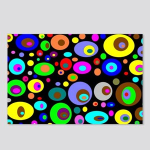 abstraction-with-bright-circles Postcards (Package