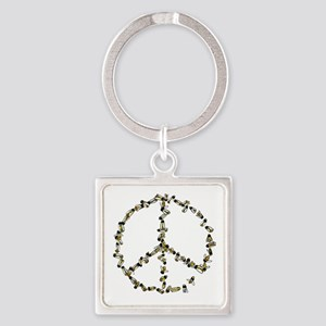 Give Bees A Chance Square Keychain